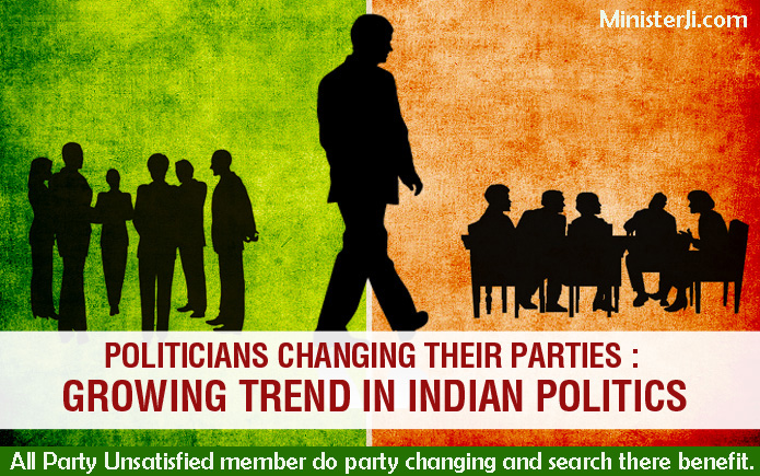 Politicians changing their parties Growing Trend in Indian Politics